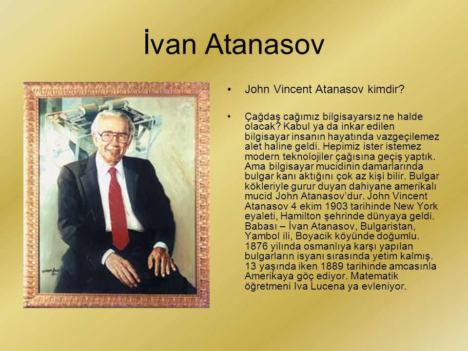 İvan Atanasov John Vincent Atanasov kimdir