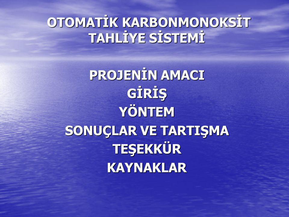 OTOMATİK KARBONMONOKSİT TAHLİYE SİSTEMİ
