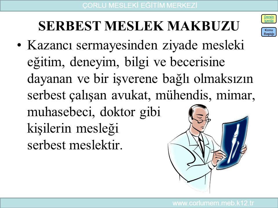 SERBEST MESLEK MAKBUZU