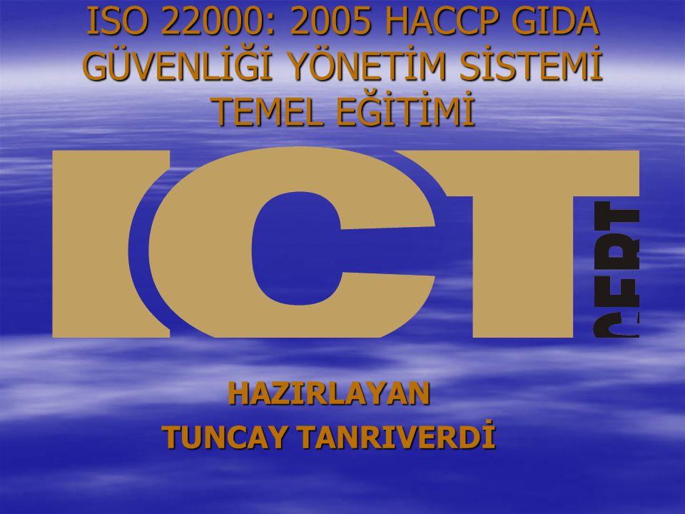 ISO 22000: 2005 HACCP GIDA GÜVENLİĞİ YÖNETİM SİSTEMİ TEMEL EĞİTİMİ
