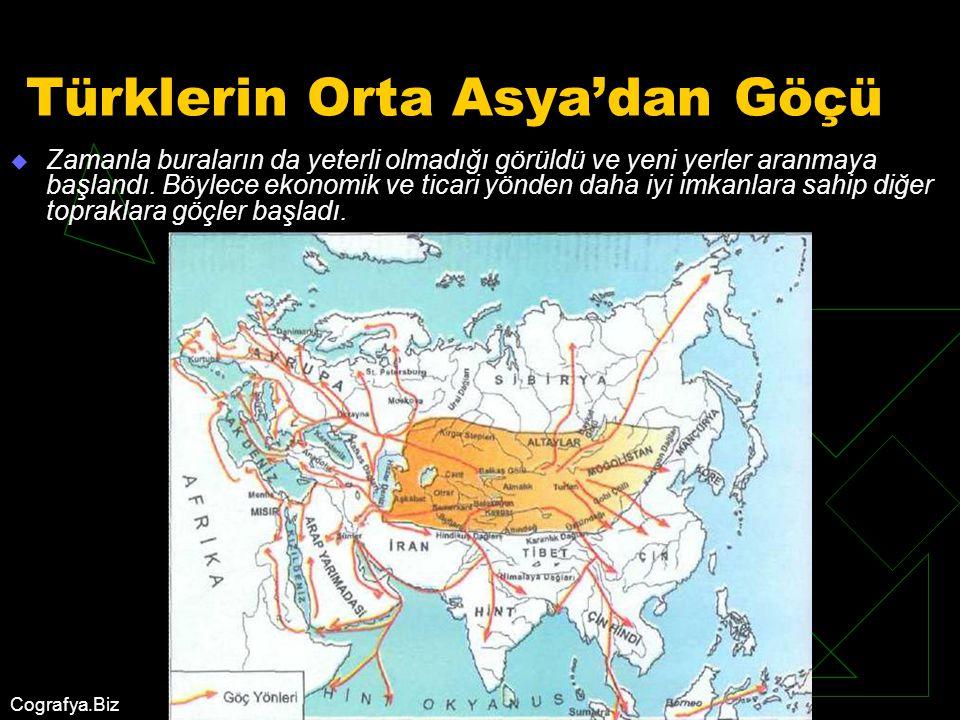 Türklerin Orta Asya'dan Göçü
