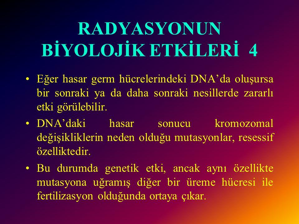 RADYASYONUN BİYOLOJİK ETKİLERİ 4