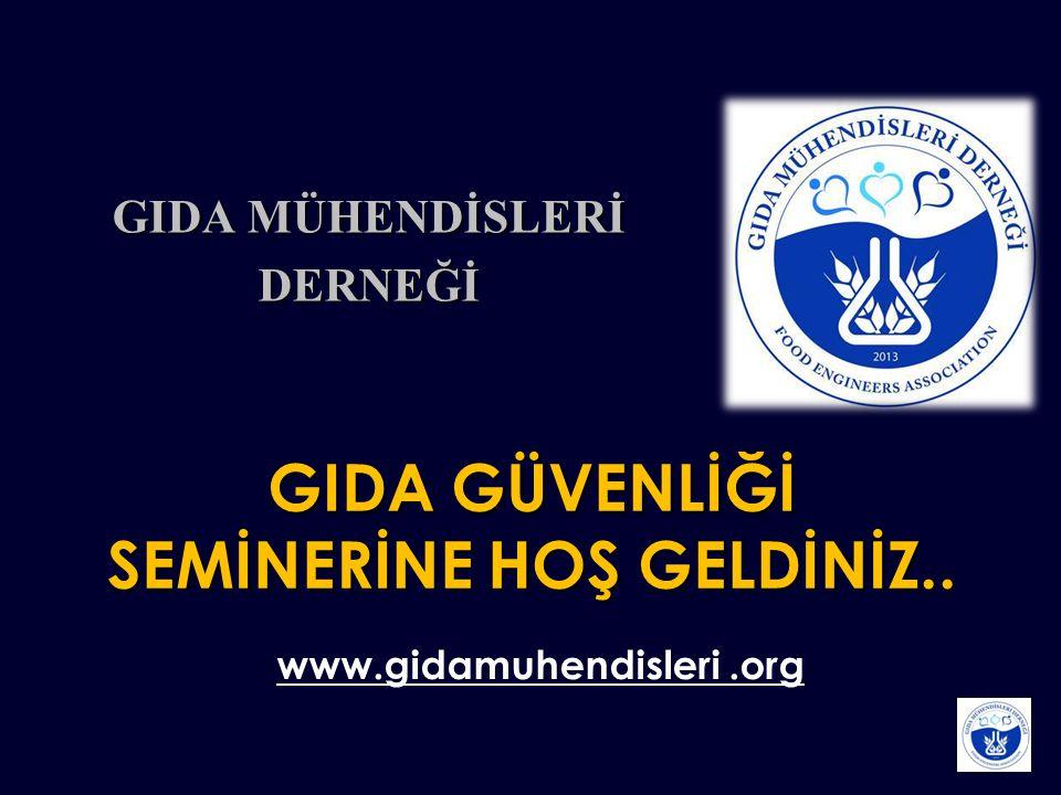 GIDA GÜVENLİĞİ SEMİNERİNE HOŞ GELDİNİZ..