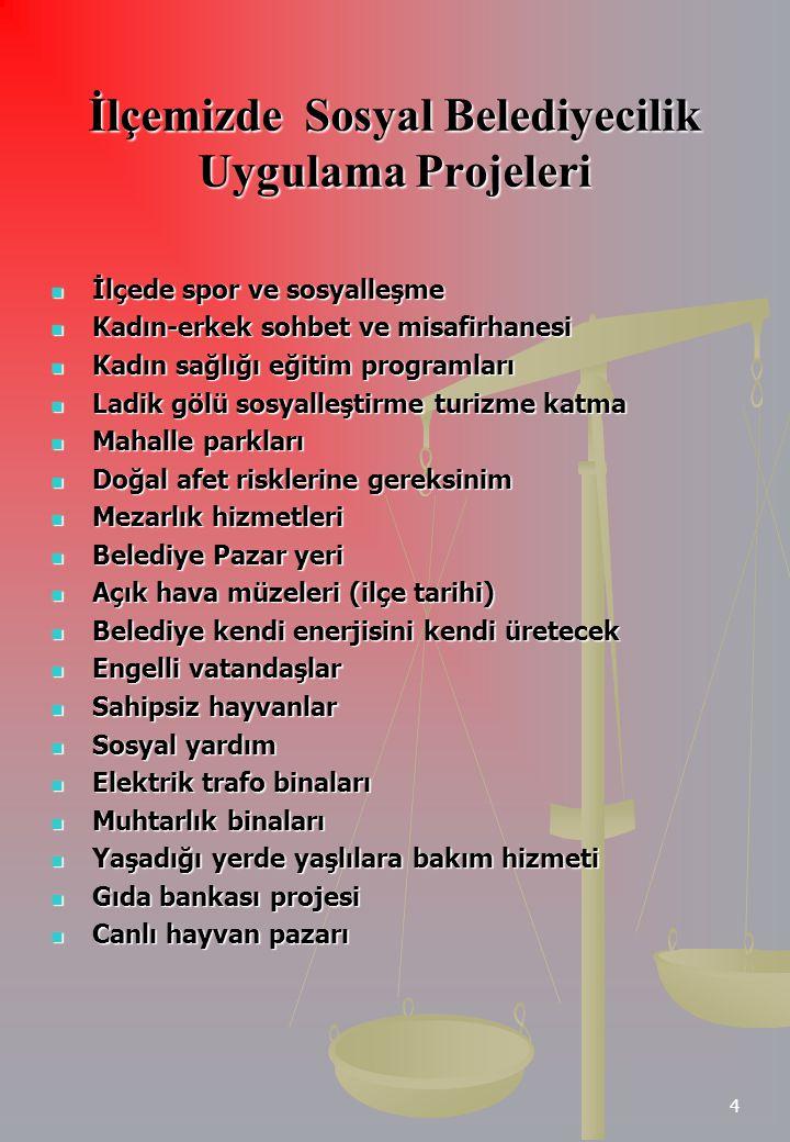 İlçemizde Sosyal Belediyecilik Uygulama Projeleri