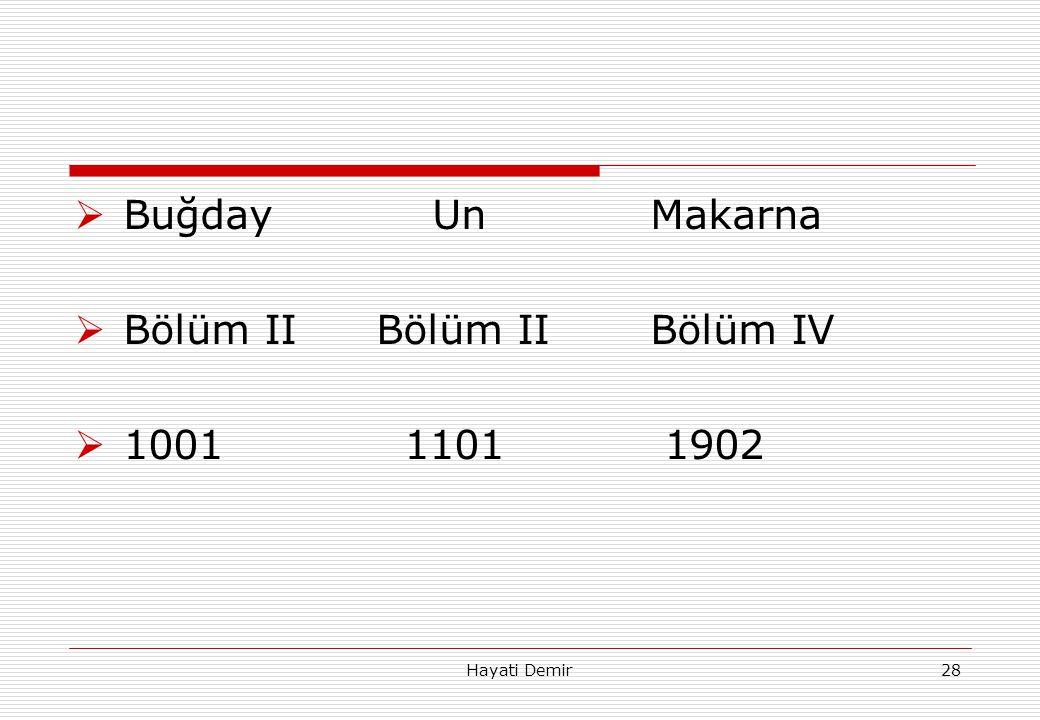 Bölüm II Bölüm II Bölüm IV 1001 1101 1902
