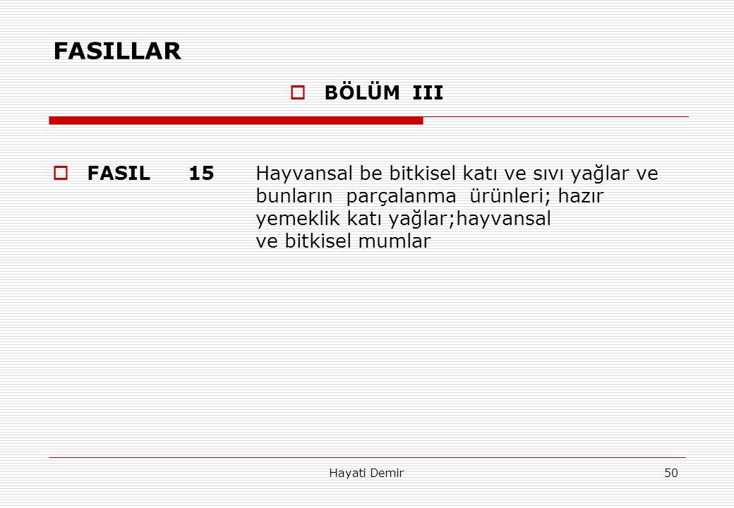 FASILLAR BÖLÜM III.