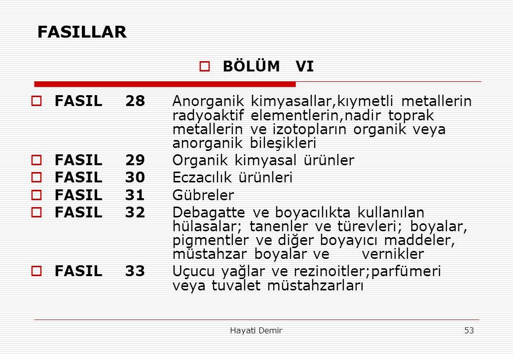FASILLAR BÖLÜM VI.