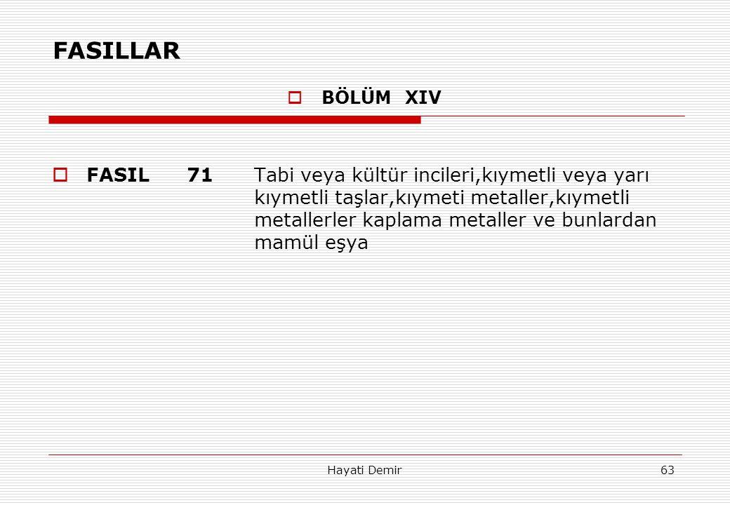 FASILLAR BÖLÜM XIV.