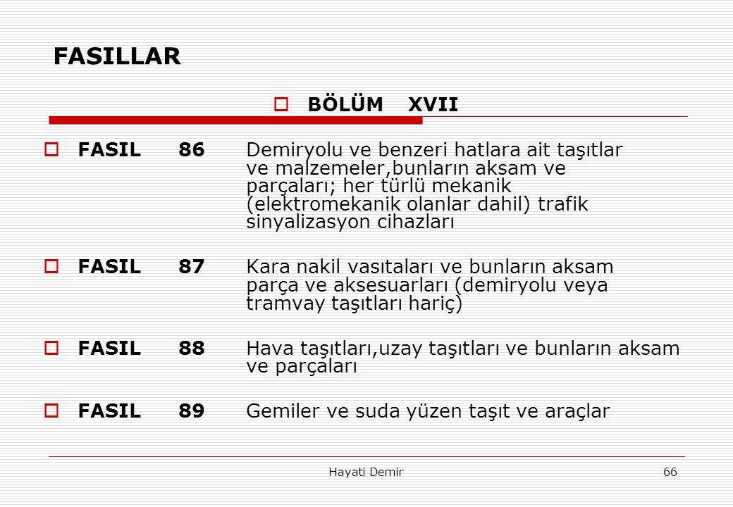 FASILLAR BÖLÜM XVII.