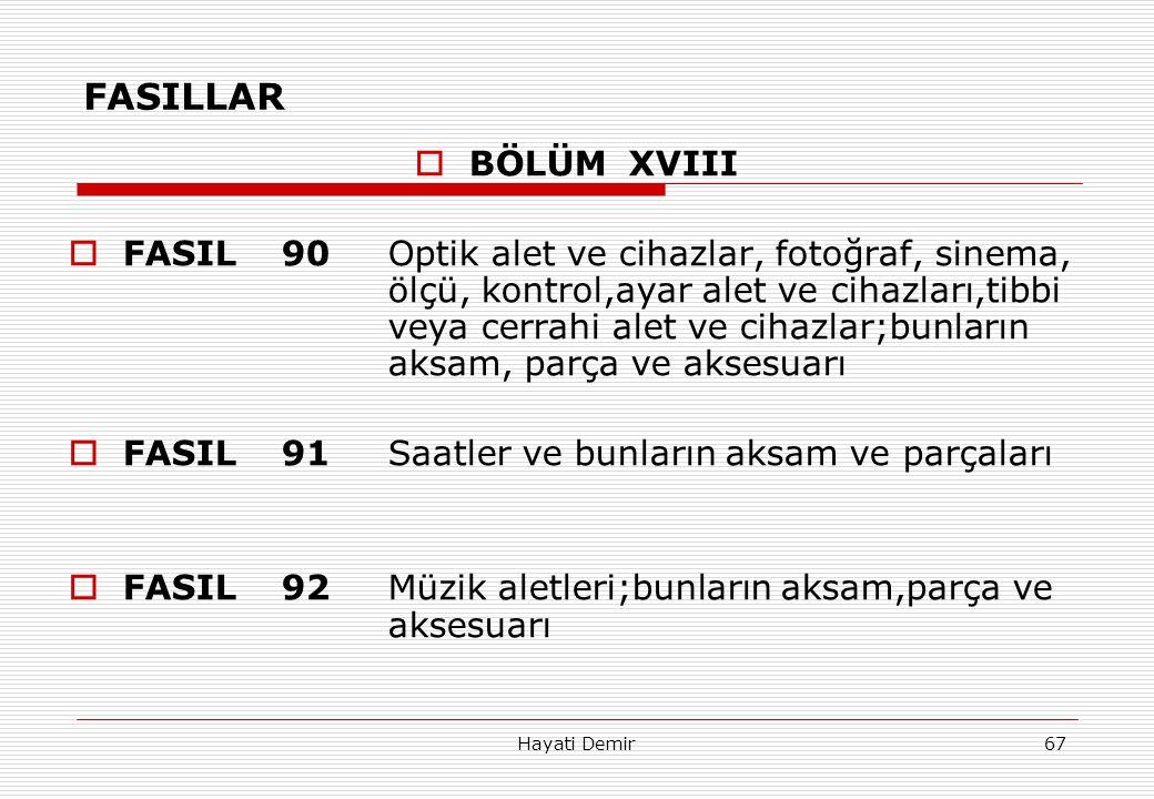 FASILLAR BÖLÜM XVIII.