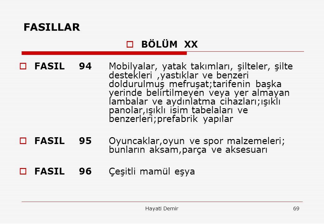 FASILLAR BÖLÜM XX.
