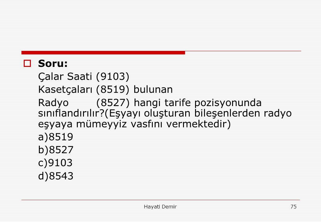 Kasetçaları (8519) bulunan