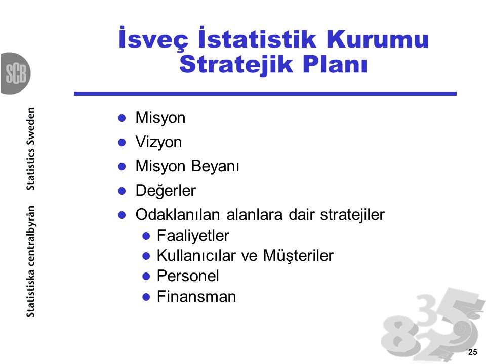 İsveç İstatistik Kurumu Stratejik Planı