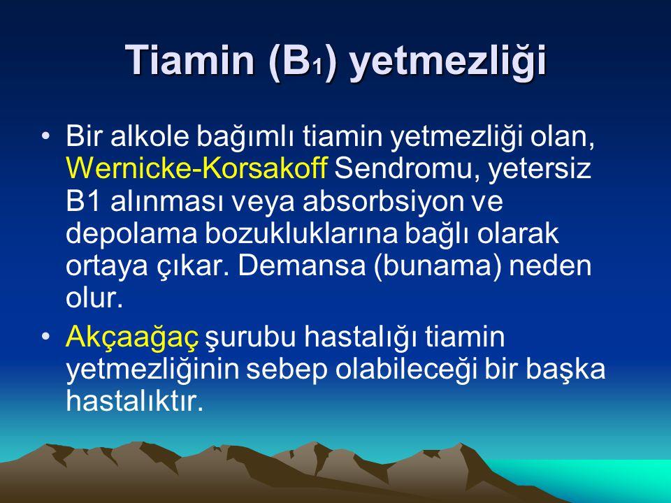 Tiamin (B1) yetmezliği