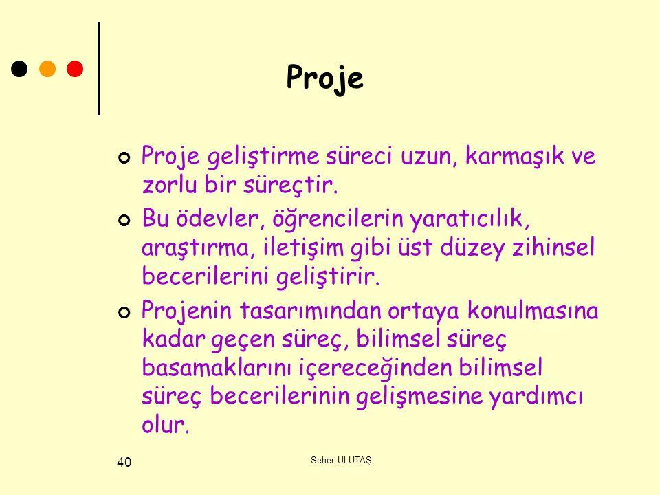 Proje Proje geliştirme süreci uzun, karmaşık ve zorlu bir süreçtir.