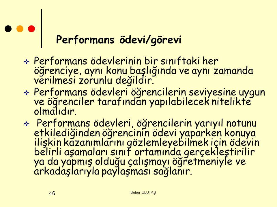Performans ödevi/görevi