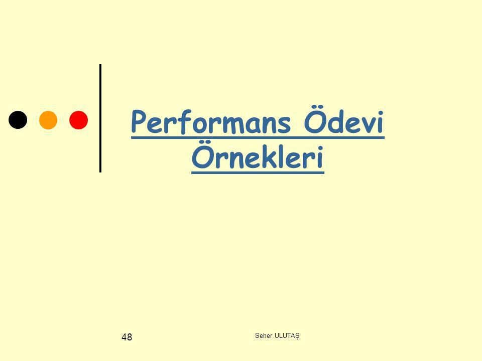Performans Ödevi Örnekleri