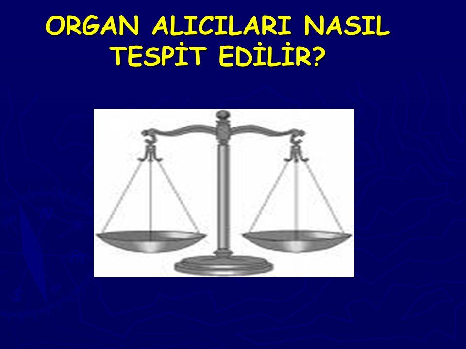 ORGAN ALICILARI NASIL TESPİT EDİLİR