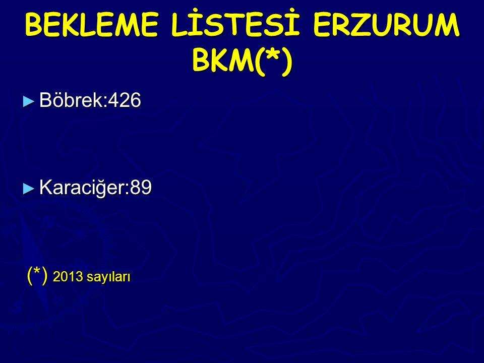 BEKLEME LİSTESİ ERZURUM BKM(*)
