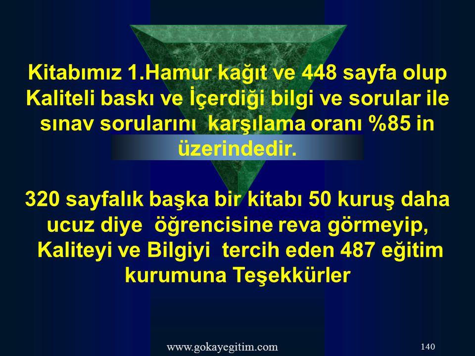 Kaliteyi ve Bilgiyi tercih eden 487 eğitim kurumuna Teşekkürler