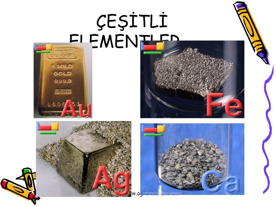 ÇEŞİTLİ ELEMENTLER www.ogretmenevi.net