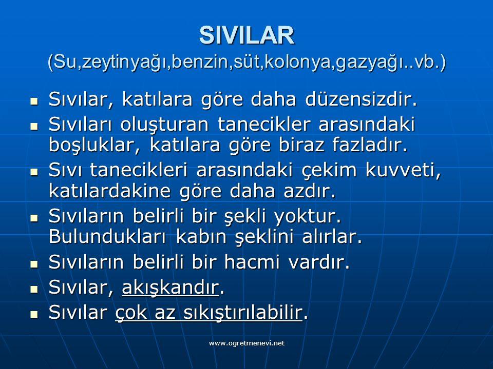 SIVILAR (Su,zeytinyağı,benzin,süt,kolonya,gazyağı..vb.)
