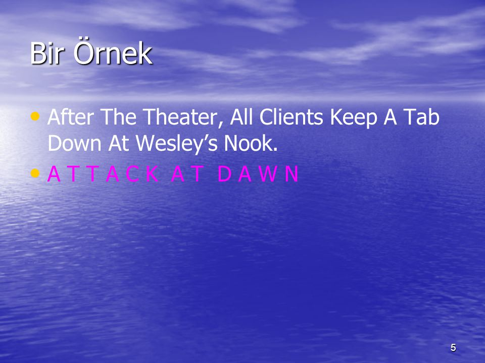 Bir Örnek After The Theater, All Clients Keep A Tab Down At Wesley's Nook.