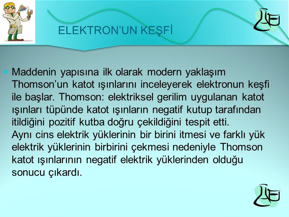 ELEKTRON'UN KEŞFİ