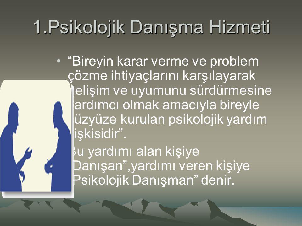 1.Psikolojik Danışma Hizmeti