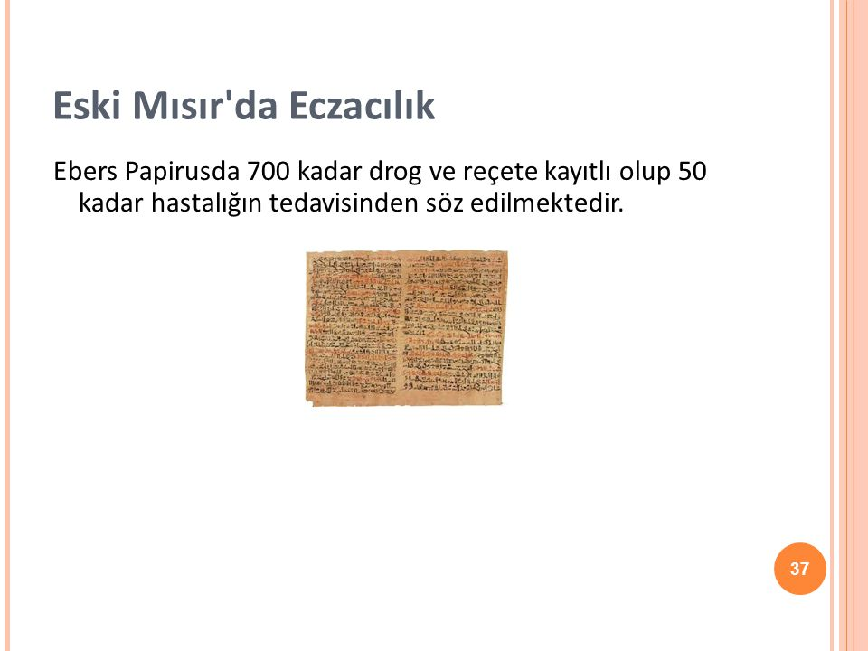 Eski Mısır da Eczacılık