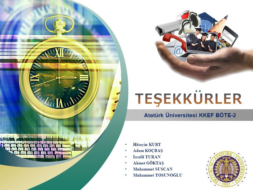 Atatürk Üniversitesi KKEF BÖTE-2
