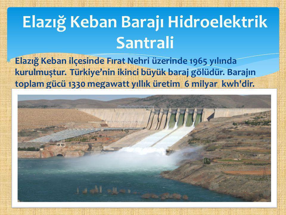 Elazığ Keban Barajı Hidroelektrik Santrali