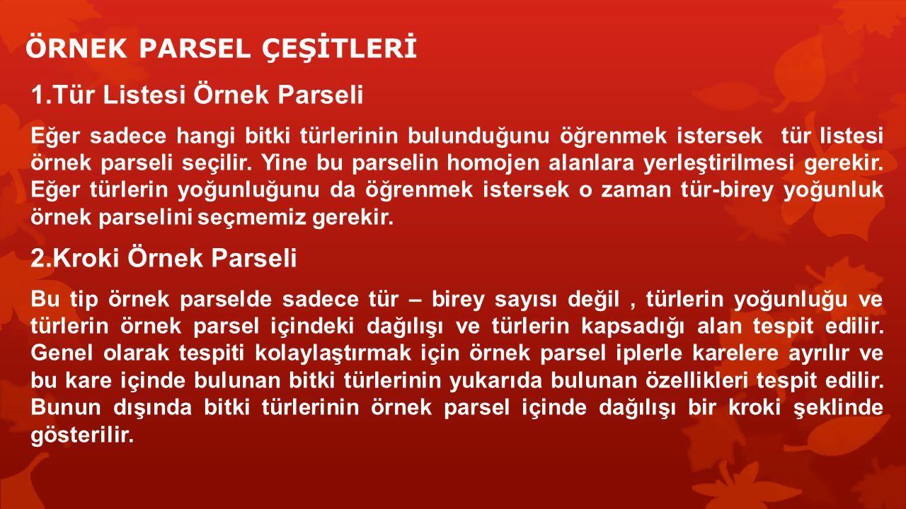 ÖRNEK PARSEL ÇEŞİTLERİ