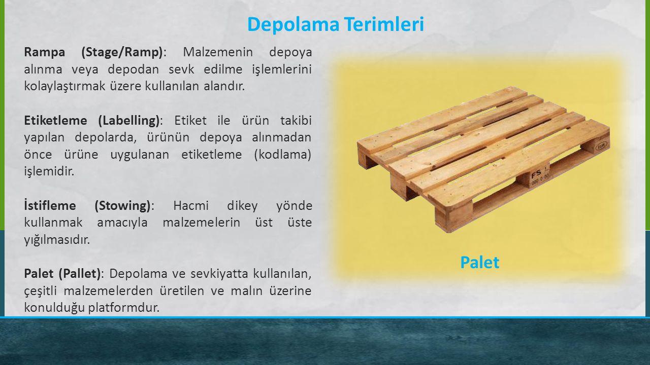 Depolama Terimleri Palet