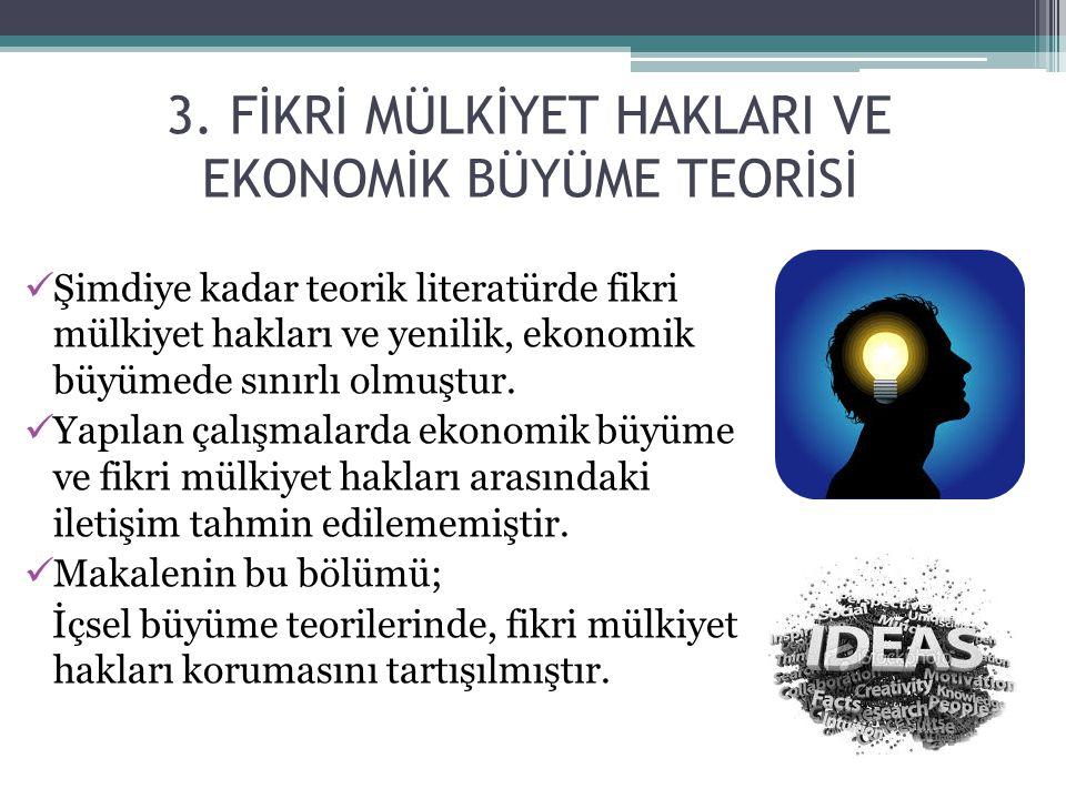 3. FİKRİ MÜLKİYET HAKLARI VE EKONOMİK BÜYÜME TEORİSİ