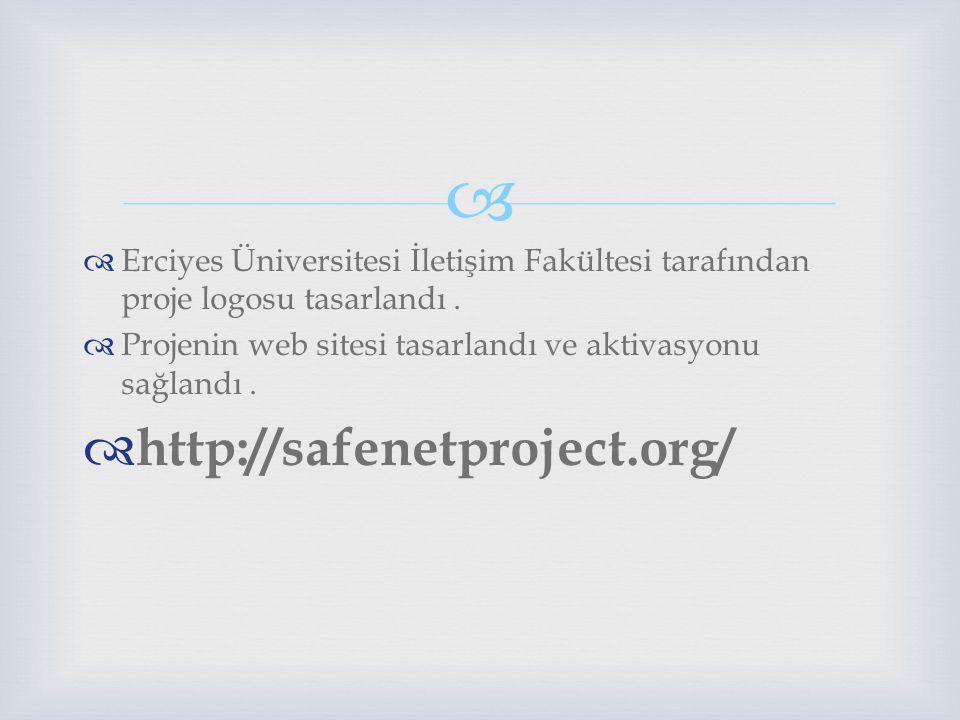 Erciyes Üniversitesi İletişim Fakültesi tarafından proje logosu tasarlandı .
