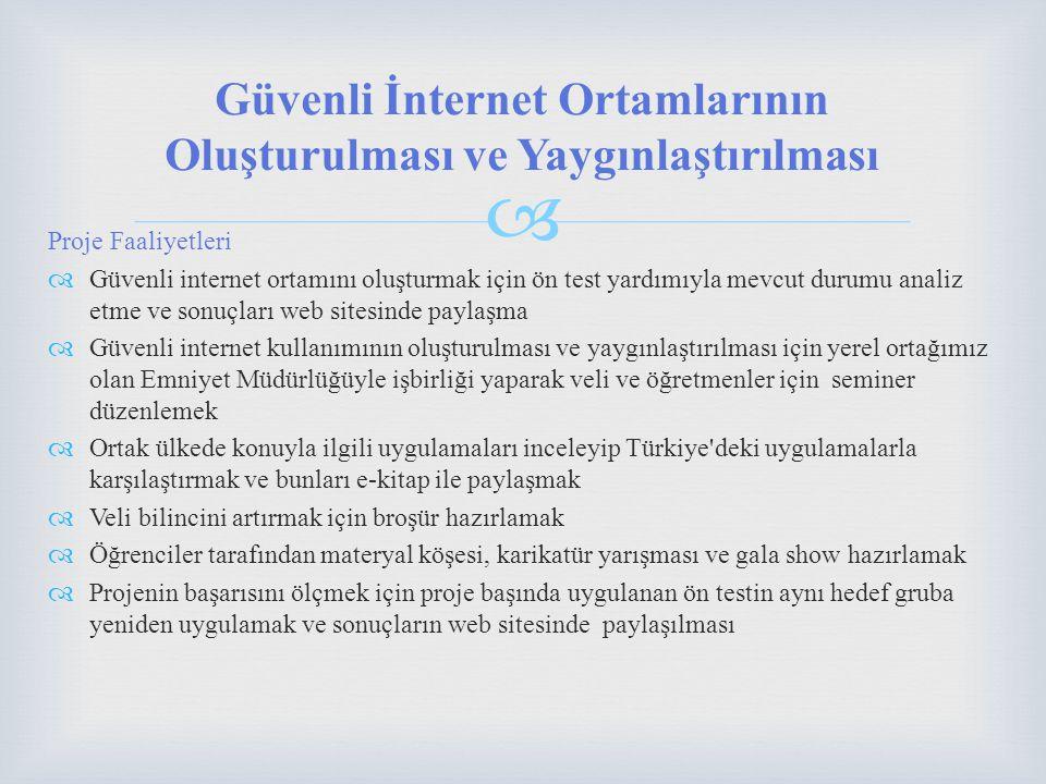 Güvenli İnternet Ortamlarının Oluşturulması ve Yaygınlaştırılması