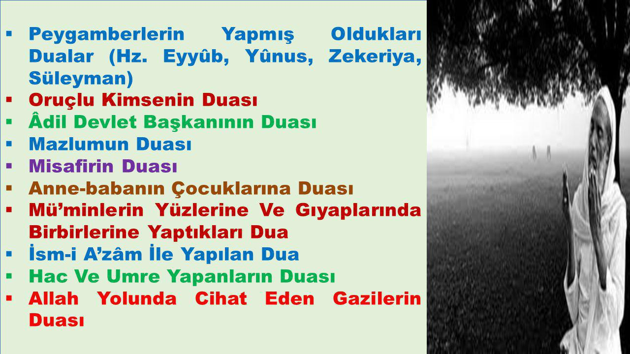 Peygamberlerin Yapmış Oldukları Dualar (Hz