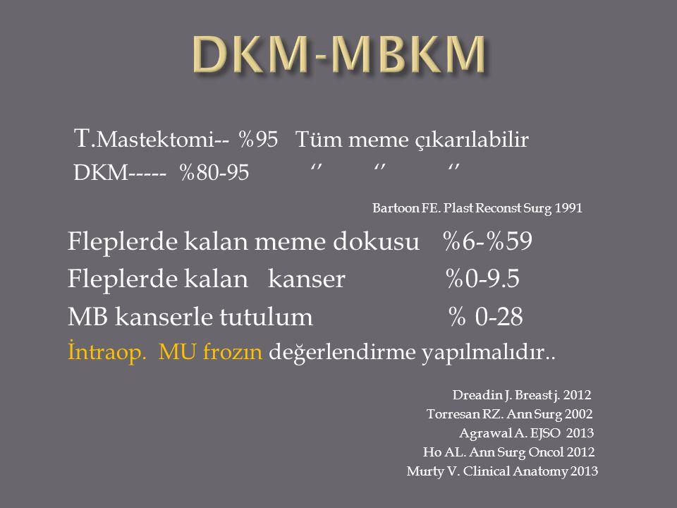 DKM-MBKM T.Mastektomi-- %95 Tüm meme çıkarılabilir