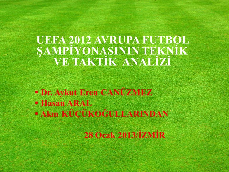 UEFA 2012 AVRUPA FUTBOL ŞAMPİYONASININ TEKNİK VE TAKTİK ANALİZİ