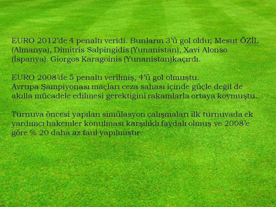 EURO 2012'de 4 penaltı veridi