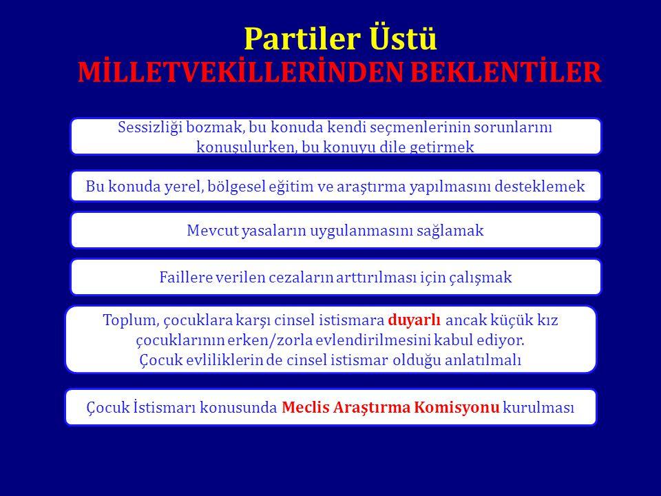 Partiler Üstü MİLLETVEKİLLERİNDEN BEKLENTİLER