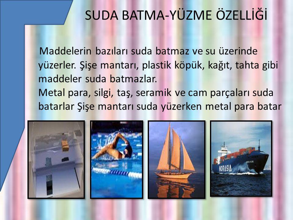 SUDA BATMA-YÜZME ÖZELLİĞİ