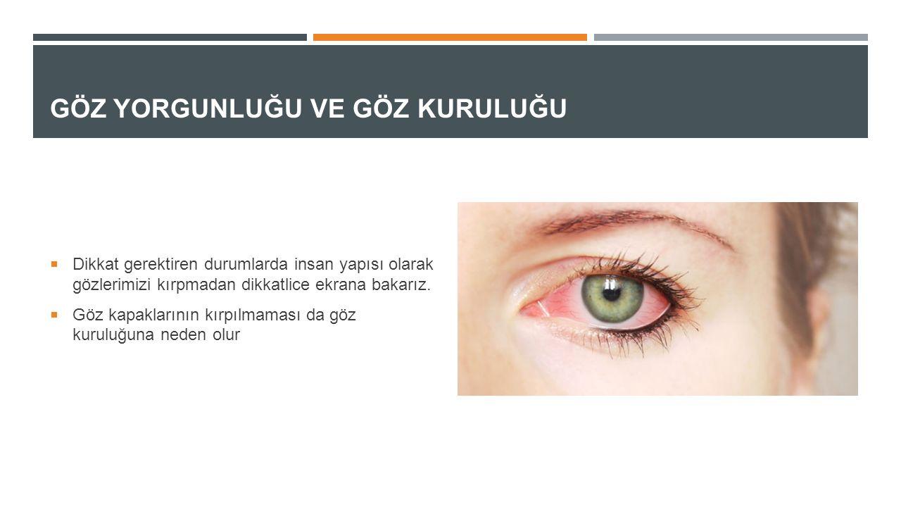 Göz Yorgunluğu ve Göz Kuruluğu