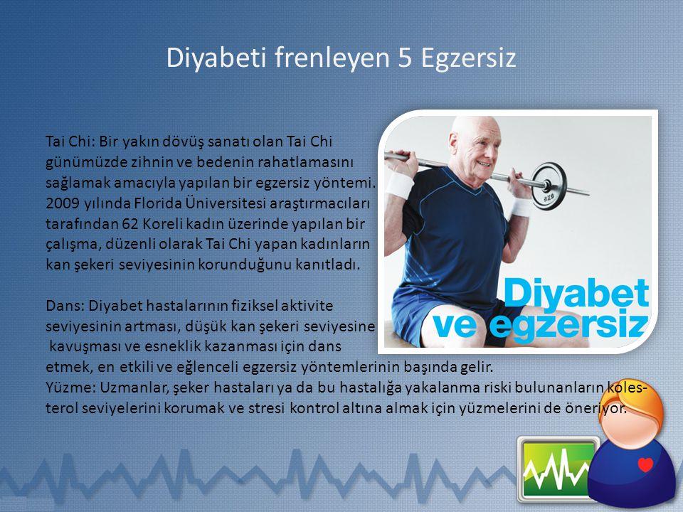 Diyabeti frenleyen 5 Egzersiz