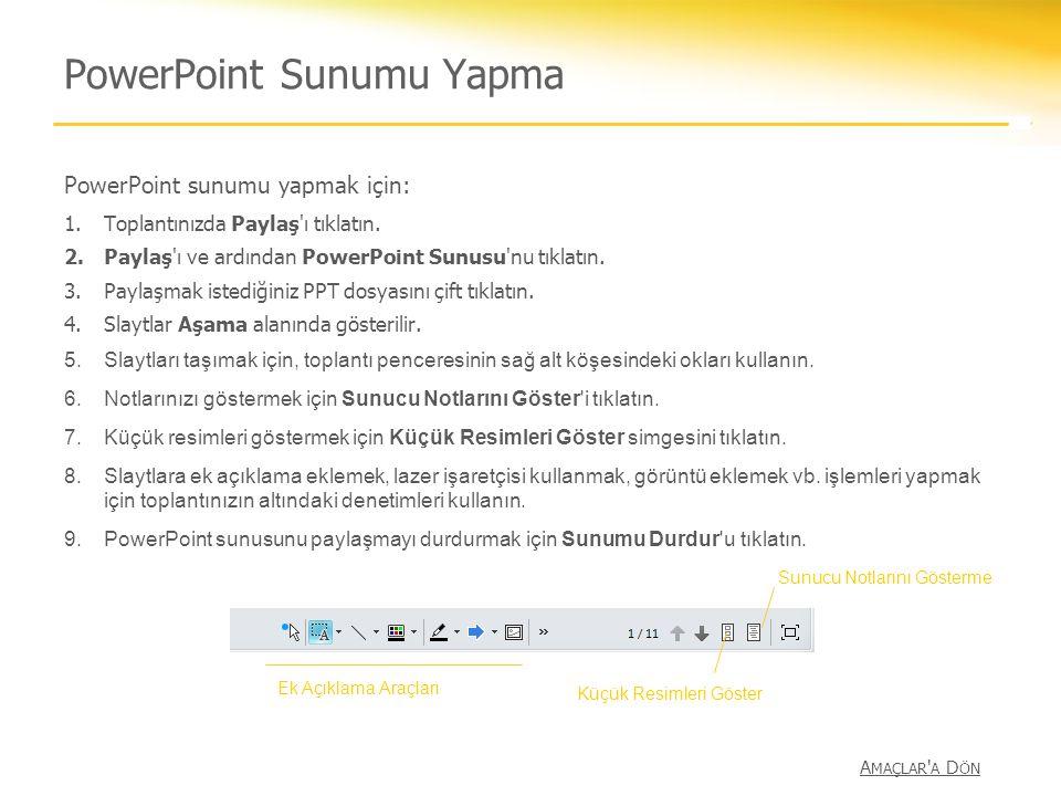 PowerPoint Sunumu Yapma