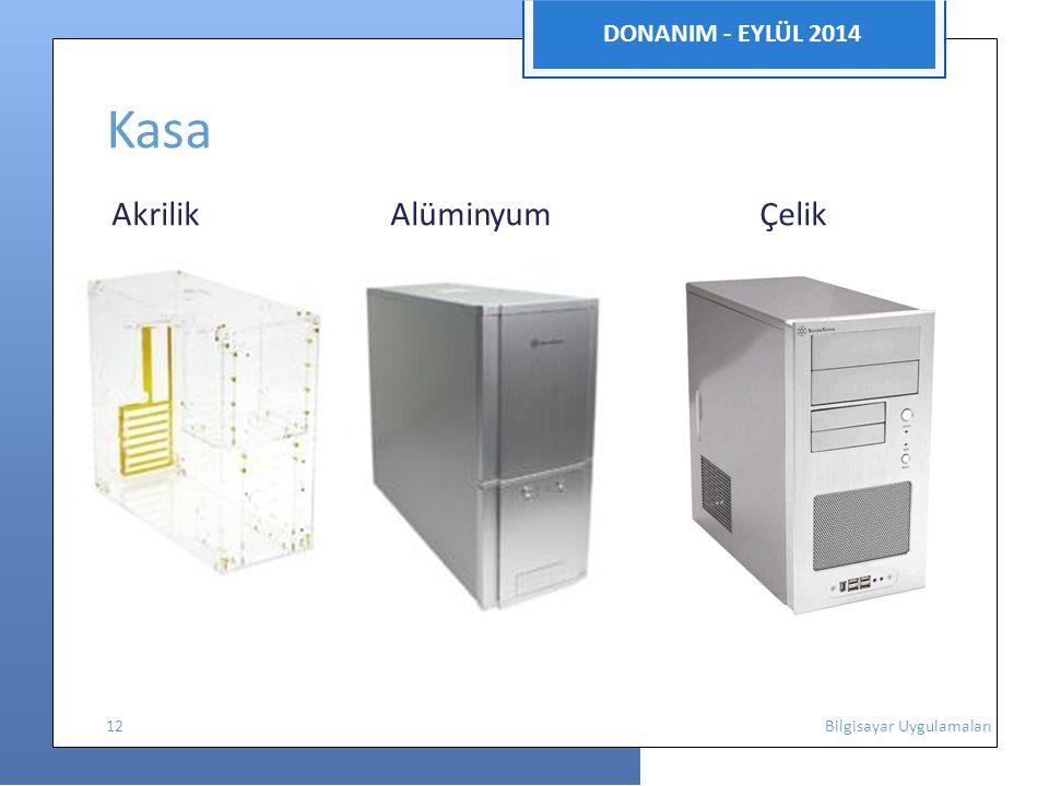 Kasa DONANIM - EYLÜL 2014 Akrilik Alüminyum Çelik