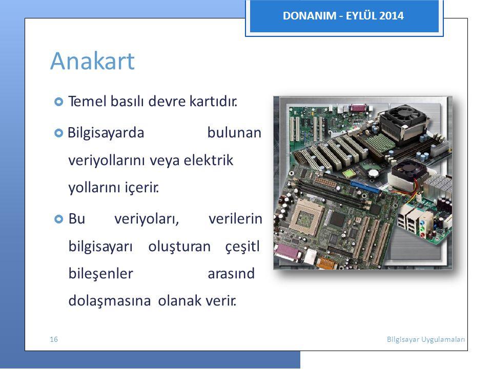 Anakart DONANIM - EYLÜL 2014 veriyollarını veya elektrik i