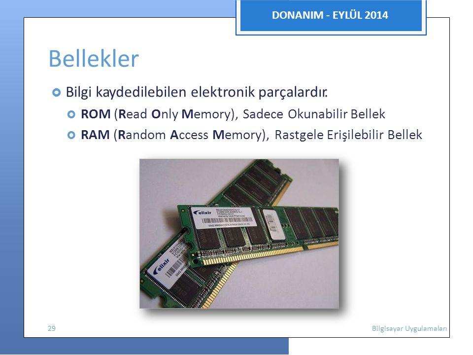 Bellekler DONANIM - EYLÜL 2014