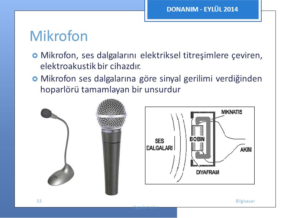 Mikrofon elektroakustik bir cihazdır.